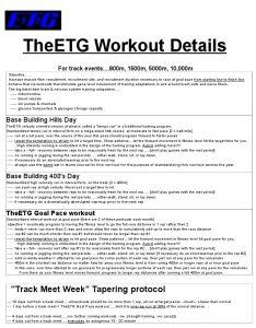 training & performances updates   TheElite Training Group